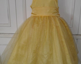 Belle Beauty and the Beast Boutique Dress Halloween Costume Size 2T 3T 4T 5 6 SUMMER SALE