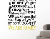 In This House -Vinyl Lettering custom removable decal  family wall art  words graphics Home decor itswritteninvinyl