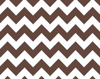 Riley Blake Fabric, Chevron in Brown- Medium, 1 yard