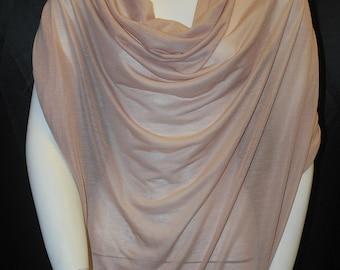 Micro Modal Silk Sheer Jersey Blush 10 yards Cut