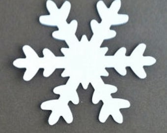 12 White 3 inch Snowflakes...  scrapbooking, cardmaking, paper crafts