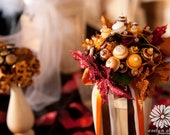 Beautiful Autumn Button Bouquet, Alternative, non-traditional