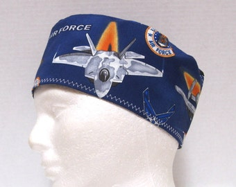 Mens Scrub Hat or Surgical Cap Military Air Force