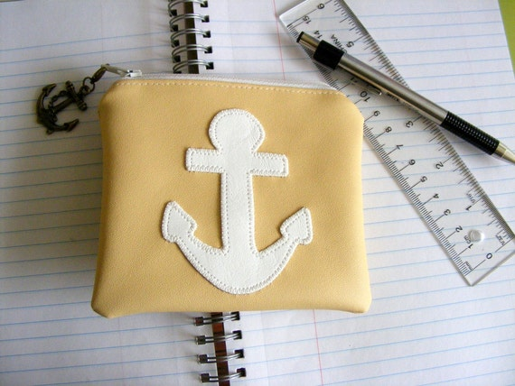 Anchor applique wallet-pouch-cell phone case