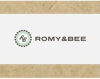 SALE - Custom PreDesigned PreMade Vector Logo Design - ROMY&BEE