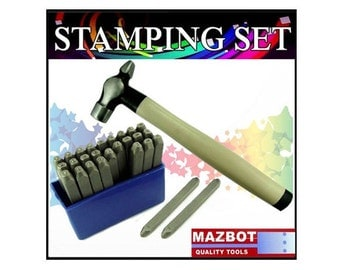 2pc Mazbot  Letter Punching tool kit
