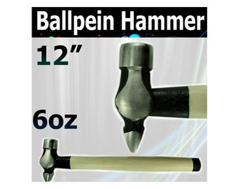 12in Mazbot 6oz cross peen ball pein jewelry hammer  -  BH11