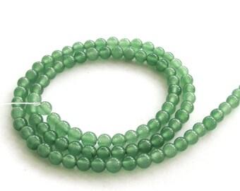 4mm One Full Strand Ayenturine Dong-Ling Stone Round Beads  ja513