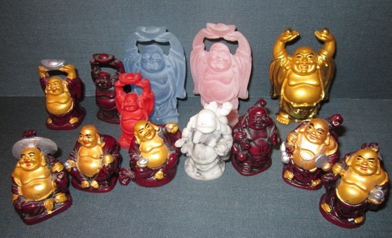 Bunch of Laughing Buddhas