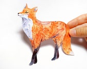 Garden Fox Sticker // 3 for 2 SALE! // 100% waterproof animal vinyl label. New on TevaGallery.