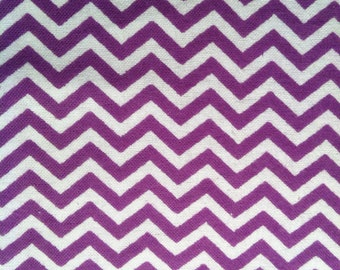 Purple and White Chevrons- Flannel  Cotton - BTY