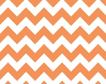 Riley Blake Chevron Orange - 1/2 yard IN STOCK