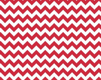Riley Blake RED Chevron Small - Fat Quarter