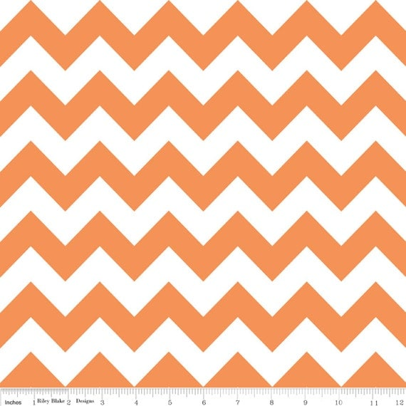 Riley Blake Chevron Orange - 1 yard