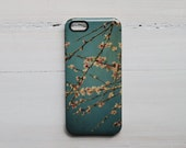SALE 50% OFF - iPhone 5 case hard, Marianne LoMonaco iPhone 5 case, Essence of spring, Blue, Pink Flower iPhone Case, girl iphone 5 case