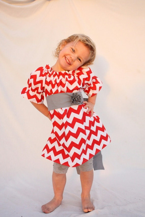 Dress girls christmas dress chevron christmas dress red christmas