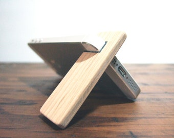 iPhone 7 / 6S / 6 / 6 PLUS stand.  cherry wood with charcoal.