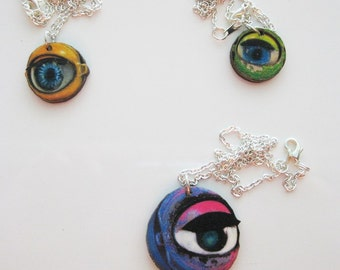 Colorful Doll Eye Necklace