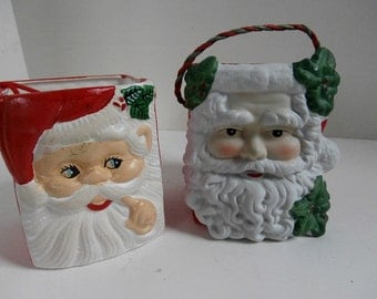 Pair Hanging Candy Santa Ornaments On Sale