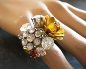 HANDMADE IN ENGLAND, Cluster Jewel and Flower Teadress Ring, by Holly Daise on Etsy