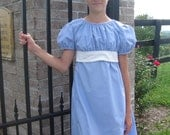 Regency Period Jane Austen style Victorian Dress. Any size and color available.