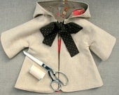 "Sewing Pattern and Tutorial for Hooded Coat for 18-20"" Doll"