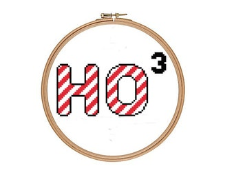 Ho Ho Ho Funny Geek Cross Stitch Pattern PDF Instant Download