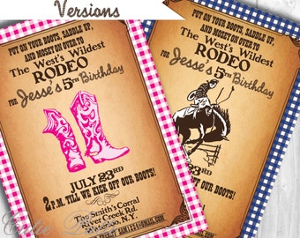 Western Invitations | Rodeo Invitation | Cowboy Invitation | Cowgirl Invitation | Rodeo Invite | Western Invite | Western Party Invite