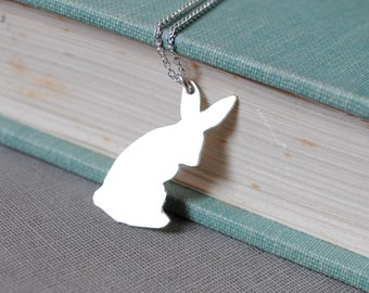 Sterling Bunny Necklace