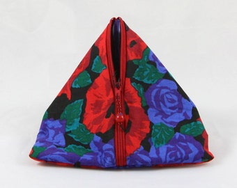 Roses are Blue Triangle Pouch