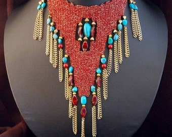 One of a kind Handwoven Neklace