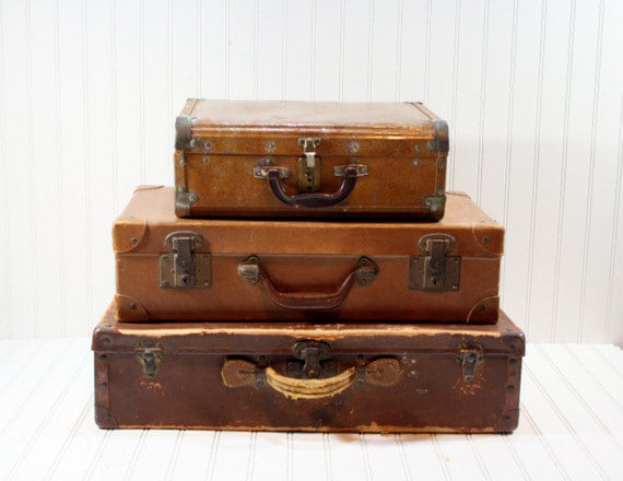 Stack Of Vintage Suitcases | Luggage And Suitcases