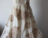 a gorgeous cotton ivory vintage inspired shabby bohemian gypsy halter dress ....