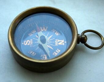 100 pcs 38 mm antique Brass Compass