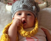 Crochet Viking Hat, Viking Hat, Baby Viking Hat, Teen Viking Hat, Adult Viking Hat