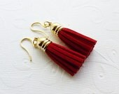 Red Tassel Earrings - Fringe Jewelry