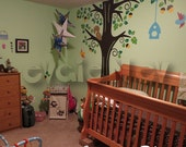 Kids Wall Decal  - Animals in the Wood - Nursery Kids Removable Wall Vinyl Decal -  PLFR010R