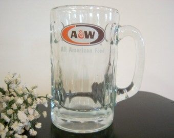 Vintage A & W Root Beer Mug All American Food