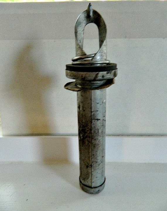 Vintage Oil Can  Opener Automotive Decor Fathers Day