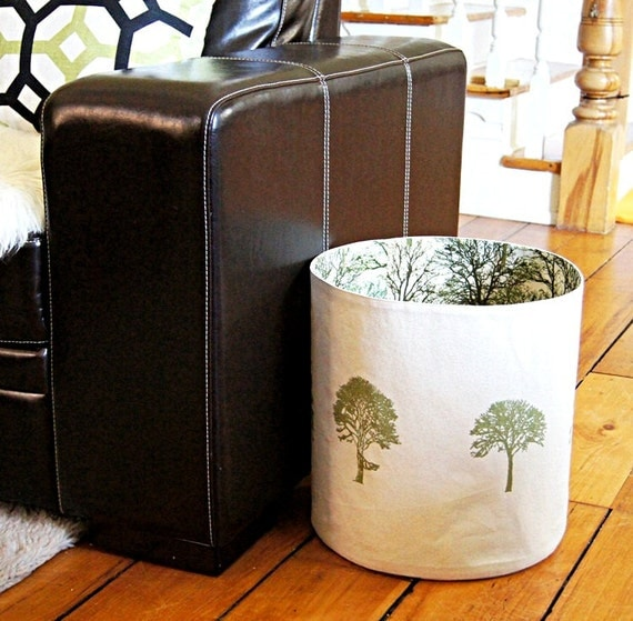 extra large organic cotton canvas storage basket by dagmarsdesigns. Black Bedroom Furniture Sets. Home Design Ideas