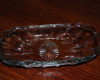 Glass Pickle Dish