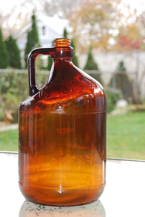 Brown Glass Clorox Gallon Jug