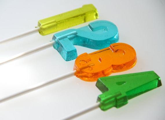 Number Lollipops 6 pieces