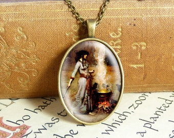 Witches Cauldron - Vintage Necklace