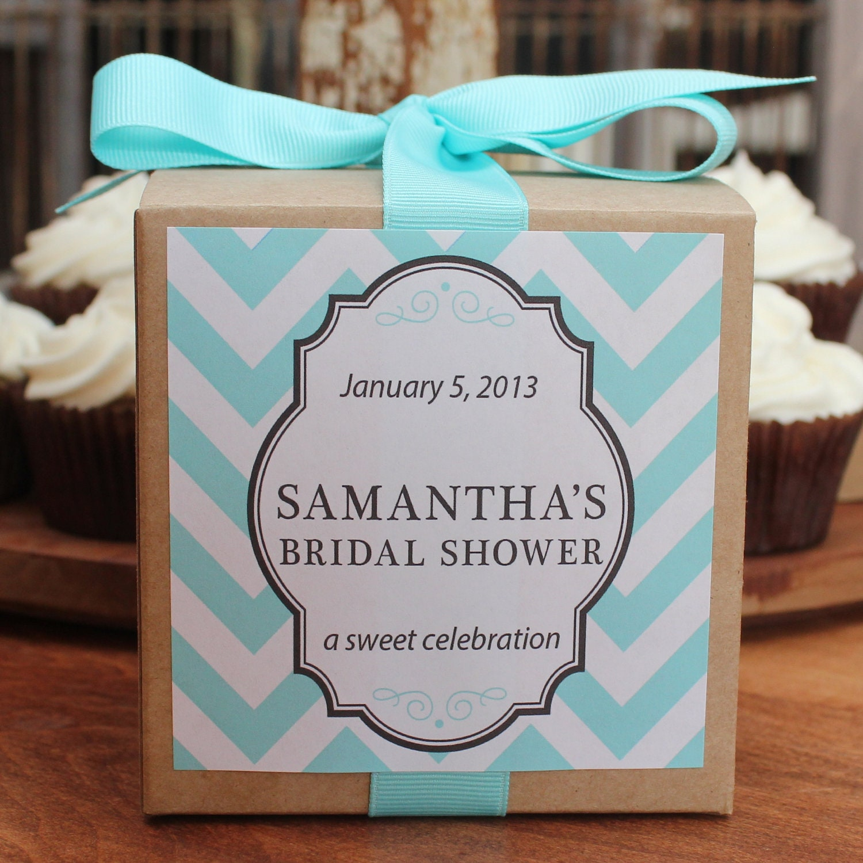 8 Bridal Shower Favor Cupcake Boxes Chevron