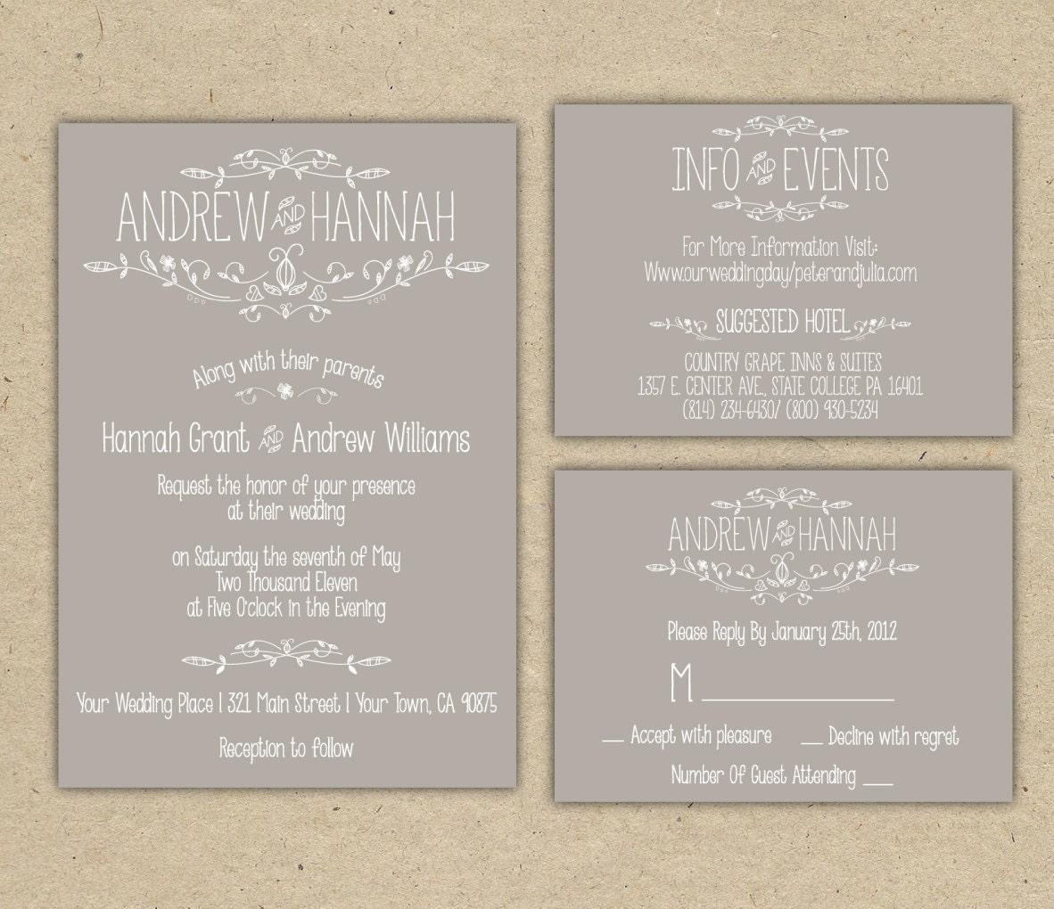 zoom - Outdoor Wedding Invitations