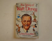Vintage Paperback The Story of Walt Disney by Diane Disney Miller, Dell 1959 First Edition