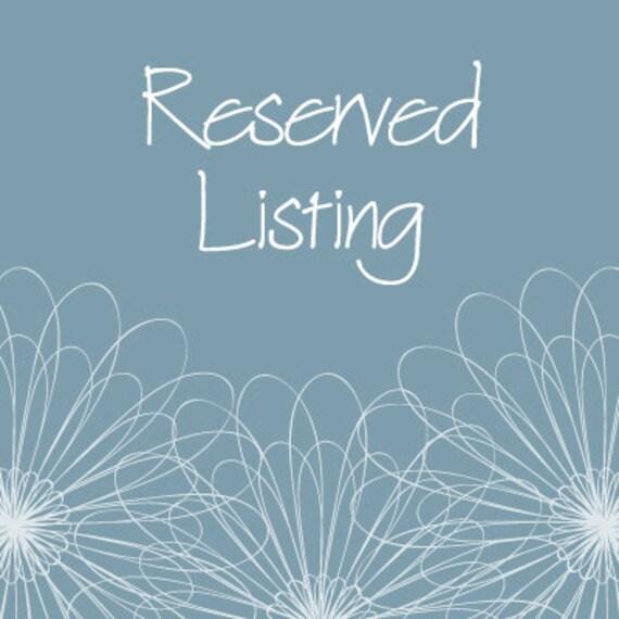 Reserved Listing for LaurenBuck