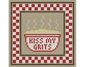 KISS MY GRITS Sassy Sampling Cross Stitch Chart