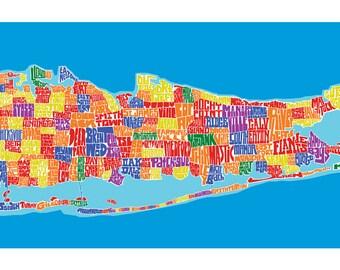 Long Island Rainbow Type Map
